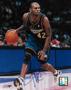Jerry Stackhouse signed Detroit Pistons basketball 8x10 photo COA