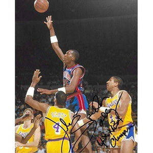 John Salley, Detroit Pistons, Signed, Autographed, 8x10 Photo, A COA With The Proof Photo Will Be Included