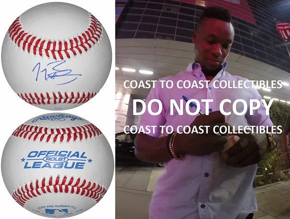 Tim Beckham Seattle Mariners Rays Orioles signed autographed baseball COA Proof