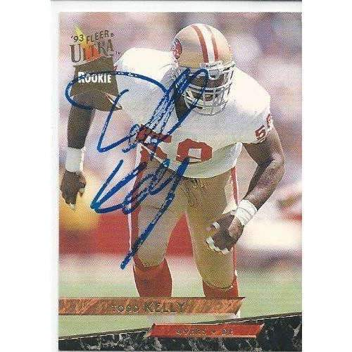 1993, Todd Kelly, San Francisco 49ers, Signed, Autographed, Fleer Ultra Football Card, Card # 432,