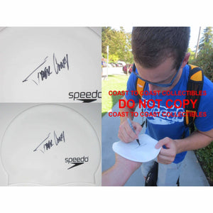 Tyler Clary, USA Olympic Swimmer, Signed, Autographed, Swim Cap, a Coa with the Proof Photo of Tyler Signing the Swim Cap Will Be Included..