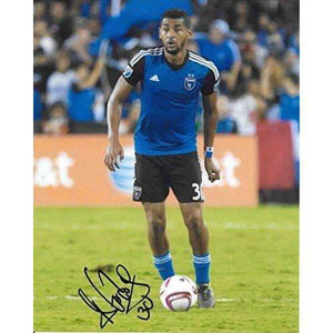 Anibal Godoy, San Jose Earthquakes, Panama, signed, autographed, soccer 8x10 photo - proof and COA