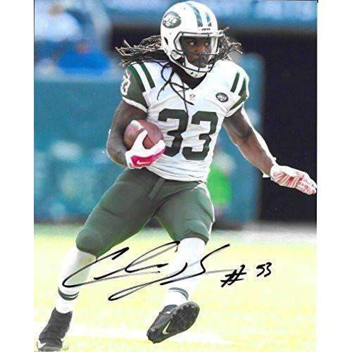 Chris Ivory ,New York Jets, Signed, Autographed, 8X10 Photo, a COA with the Proof Photo of Chris Signing Will Be Included.