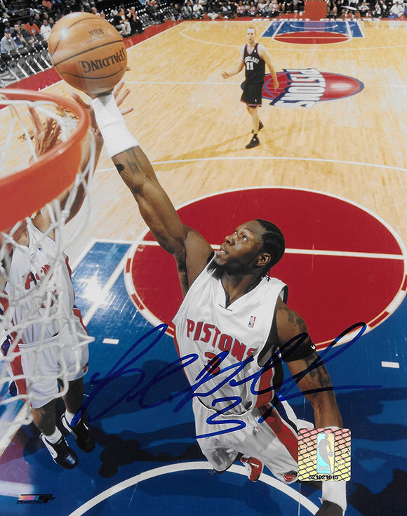 Ben Wallace signed Detroit Pistons basketball 8x10 photo COA