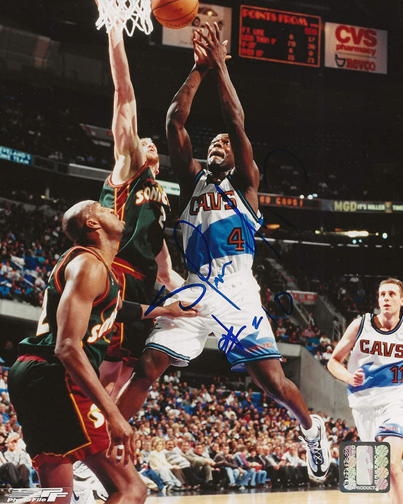 Shawn Kemp Cleveland Cavaliers signed autographed basketball 8x10 photo proof COA