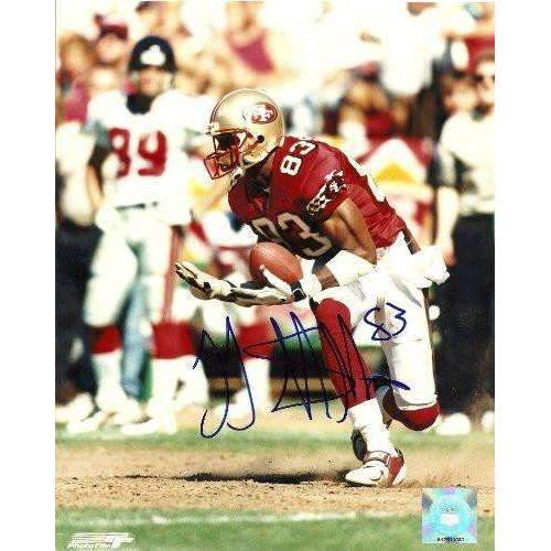 JJ STOKES,SAN FRANCISCO 49ERS,NINERS,UCLA BRUINS,SIGNED,AUTOGRAPHED,8X10 PHOTO,COA, RARE HARD PHOTO TO FIND