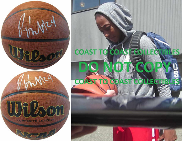 Jewell Loyd Notre Dame fighting Irish signed autographed NCAA basketball proof