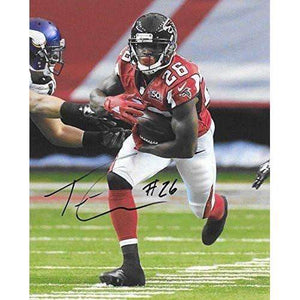 Tevin Coleman Atlanta Falcons, Signed, Autographed, 8X10 Photo, a COA with the Proof Photo of Tevin Signing Will Be Included..