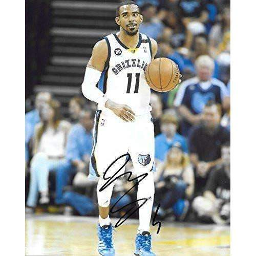 Mike Conley, Memphis Grizzlies, Signed, Autographed, Basketball, 8X10 Photo, a Coa with the Proof Photo of Mike Signing Will Be Included.