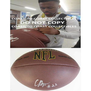 CJ Prosisie Seattle Seahawks, Notre Dame, Signed, Autographed, NFL Football, a COA with the Proof Photo of CJ Signing Will Be Included with the Ball