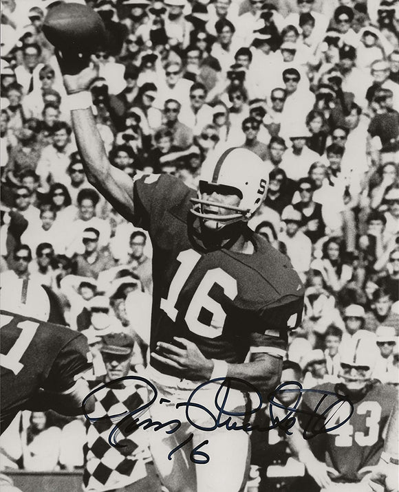 Jim Plunkett Stanford Cardinals signed autographed 8x10 photo proof COA