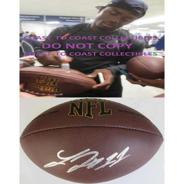 Laquon Treadwell, Minnesota Vikings, Ole Miss, Signed, Autographed, NFL Football, a COA with the Proof Photo of Laquon Signing Will Be Included
