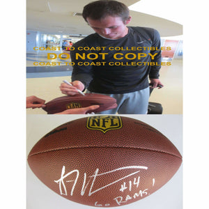 Sean Mannion St. Louis Rams, Oregon State, Signed, Autographed, NFL Duke Football, a COA with the Proof Photo of Sean Signing Will Be Included