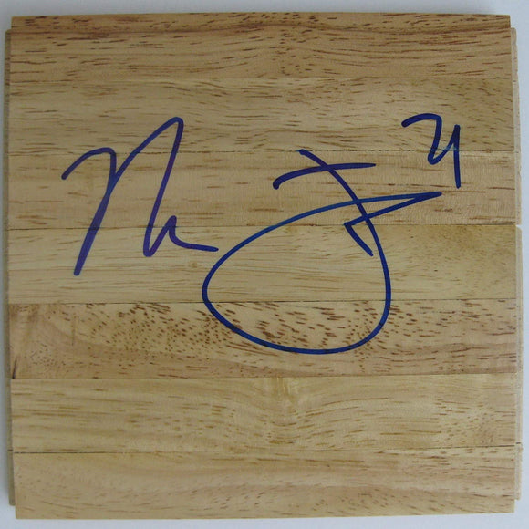 Marcus Fizer Chicago Bulls Iowa State signed autographed basketball floorboard