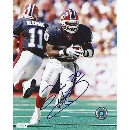 Travis Henry, Buffalo Bills, Tennessee, Signed, Autographed, 8x10 Photo, Coa, Rare Hard Photo to Find.