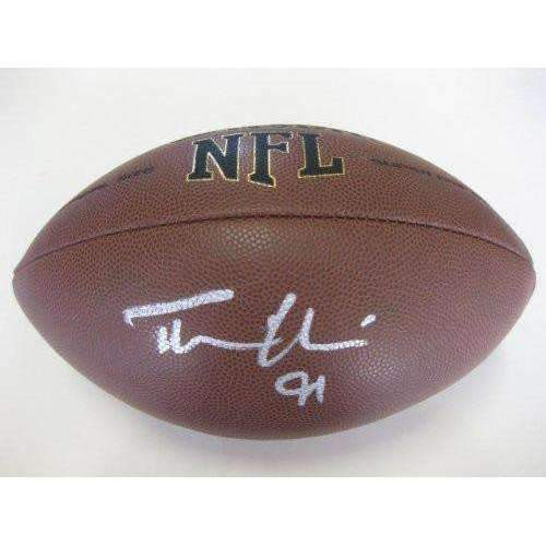 Tommy Harris, San Diego Chargers, Indianapolis Colts , Chicago Bears, Oklahoma, Sooners, Signed, Autographed, NFL Football, a COA with the Proof Photo of Tommy Signing Will Be Included