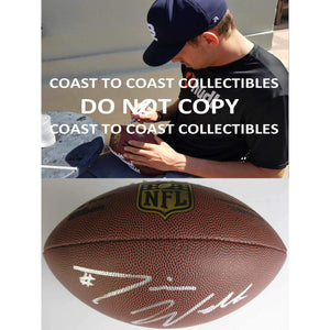 Davis Webb New York Giants, California Golden Bears autographed duke football - COA and proof photo