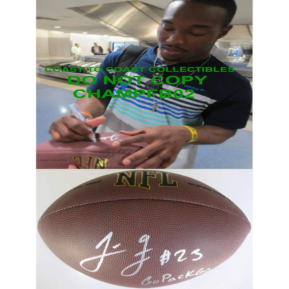 Johnathan Franklin, Green Bay Packers, UCLA Bruins, Signed, Autographed, NFL Football , A COA with the Proof Photo of Johnathan Signing Will Be Inlcuded