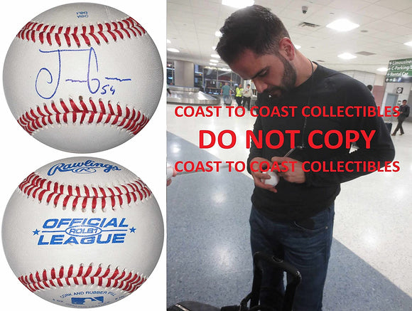 Jaime Garcia St Louis Cardinals Cubs Yankees signed autographed baseball proof
