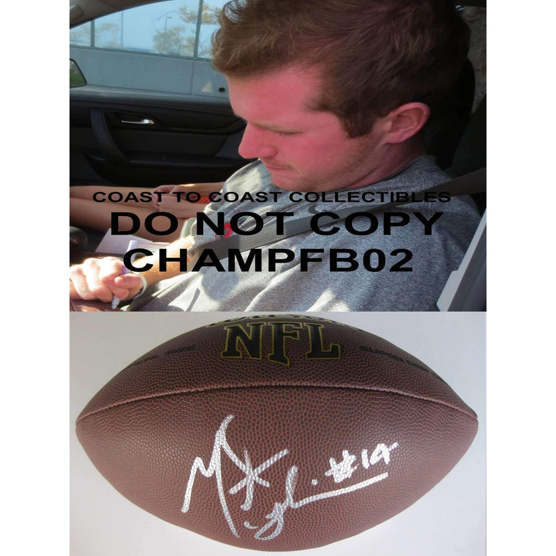 Matt Mcgloin, Oakland Raiders, Penn State, Signed, Autographed, NFL Football, a COA with the Proof Photo of Matt Signing the Football Will Be Included