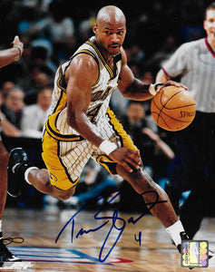 Travis Best Indiana Pacers signed basketball 8x10 photo COA