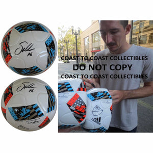 Sacha Kljestan, New York Red Bulls, Signed, Autographed, MLS Soccer Ball, a Coa with the Proof Photo of Sacha Signing the Ball Will Be Included