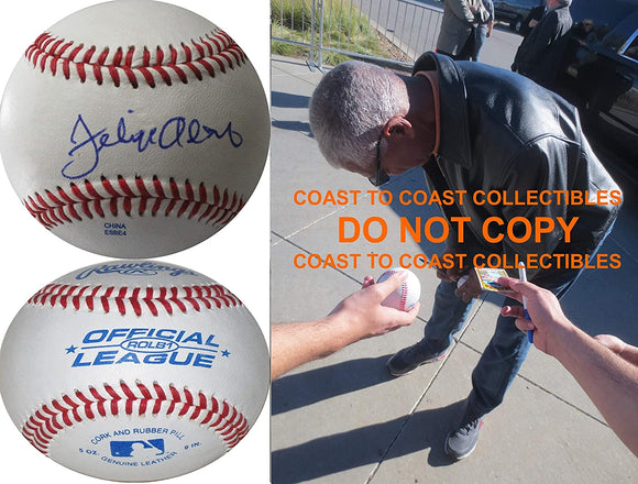 Felipe Alou San Francisco Giants Yankees signed autographed baseball COA Proof