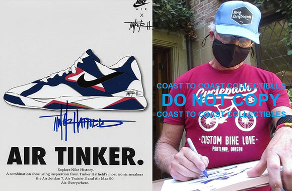 Tinker Hatfield signed Nike Air Tinker 8x10 photo COA exact proof Jordan STAR