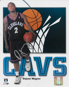 Dajuan Wagner Cleveland Cavaliers signed basketball 8x10 photo COA
