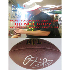 Owen Daniels, Denver Broncos, Baltimore Ravens, Houston Texans, Wisconsin, Signed, Autographed, NFL Football, a COA with the Proof Photo of Owen Signing Will Be Included with the Football