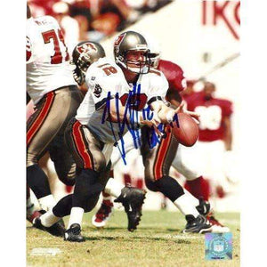 Trent Dilfer, Tampa Bay Buccaneers, Bucs, Fresno State, Signed, Autographed,8x10 Photo, Coa, Rare Hard Photo to Find