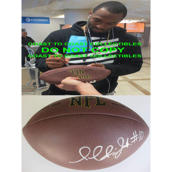 Paul Richardson, Seattle Seahawks, Colorado, Signed, Autographed, NFL Football, a COA with the Proof Photo of Paul Signing Will Be Included with the Football