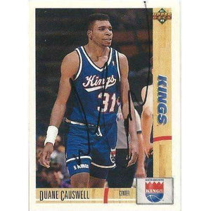 1991, Duane Causwell, Sacramento Kings, Signed, Autographed, Upper Deck Basketball Card, Card # 358,