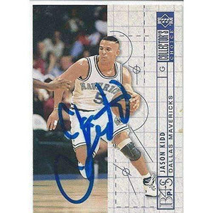 1994, Jason Kidd, RC, Dallas Mavericks, Signed, Autographed, Upper Deck Basketball Card, Card # 377,