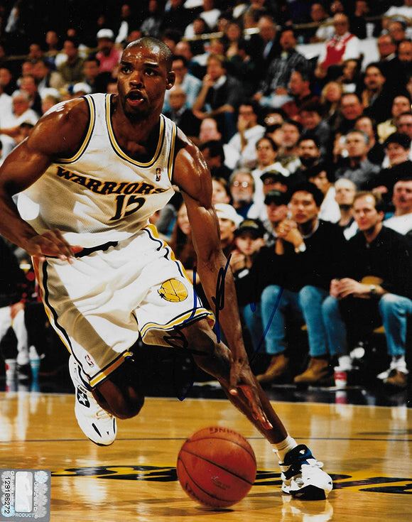 Latrell Sprewell signed Golden State Warriors basketball 8x10 photo COA