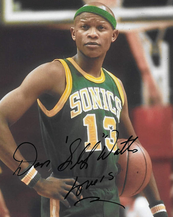 Slick Watts Seattle SuperSonics signed Sonics basketball 8x10 photo COA