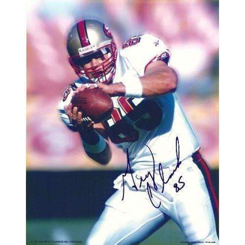 Greg Clark, San Francisco 49ers, Niners, Stanford Cardinals, Signed, Autographed, 8x10 Photo, Coa, Rare Hard Photo to Find