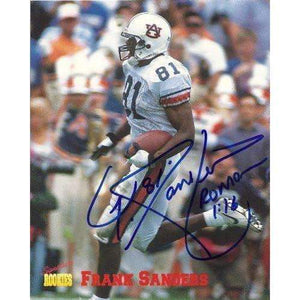 FRANK SANDERS,ARIZONA CARDINALS,AUBURN TIGERS,SIGNED,AUTOGRAPHED,8X10 PHOTO,COA, RARE HARD PHOTO TO FIND