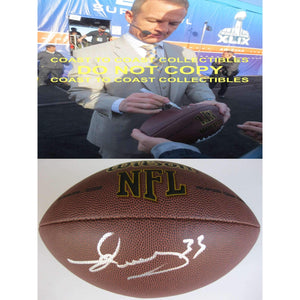 Merril Hoge Pittsburgh Steelers, Signed, Autographed, NFL Football, a COA with the Proof Photo of Merril Signing Will Be Included