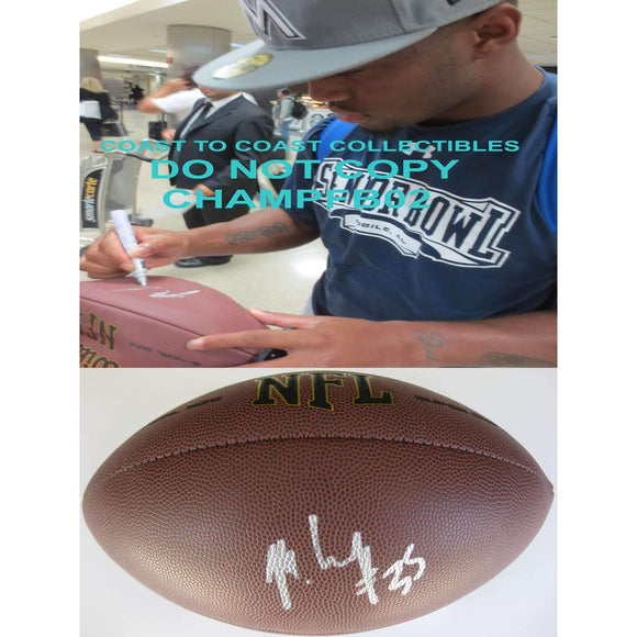 Mike Gillislee, New England Patriots, Bills, Dolphins, Florida Gators, Signed, Autographed, NFL Football, a Coa with the Proof Photo of Mike Signing Will Be Included with the Football