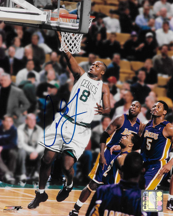 Antoine Walker signed Boston Celtics basketball 8x10 photo COA