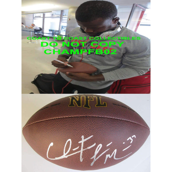 Christine Michael, Green Bay Packers, Seattle Seahawks, Texas A&M, Signed, Autographed, NFL Football, a COA with the Proof Photo of Christine Signing Will Be Included with the Ball