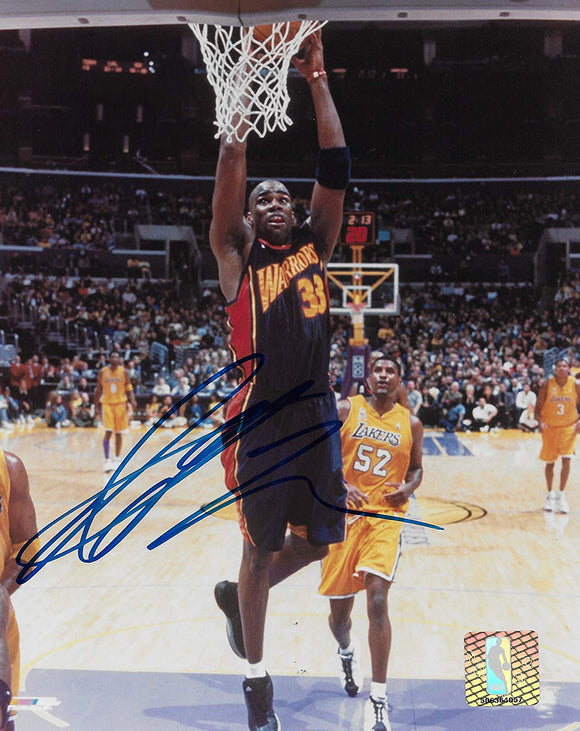 Antawn Jamison Golden State Warriors signed basketball 8x10 photo COA.