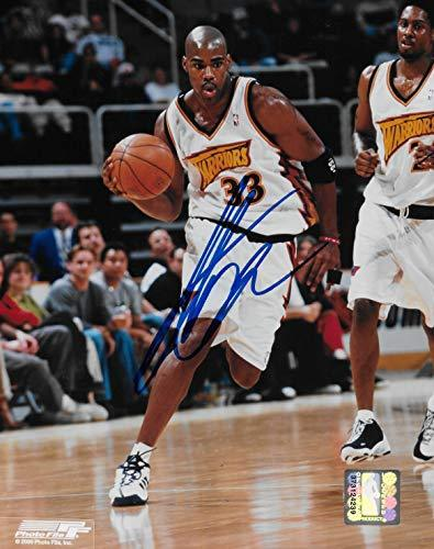 Antawn Jamison signed Golden State Warriors basketball 8x10 photo COA