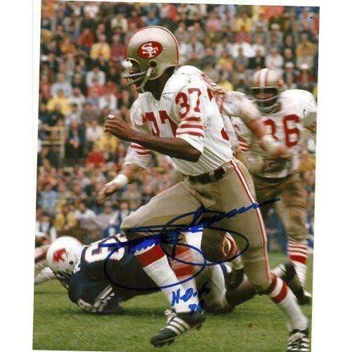 JIMMY JOHNSON SAN FRANCISCO 49ERS,HALL OF FAME,HOF,SIGNED,AUTOGRAPHED 8X10,PHOTO,COA