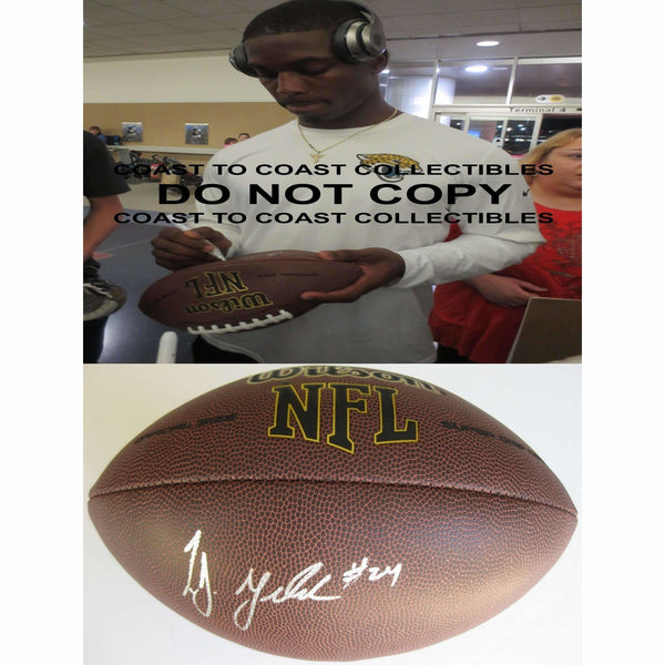 Tj Yeldon Jacksonville Jaguars, Alabama, Signed, Autographed, NFL Football, a COA with the Proof Photo of Tj Signing Will Be Included