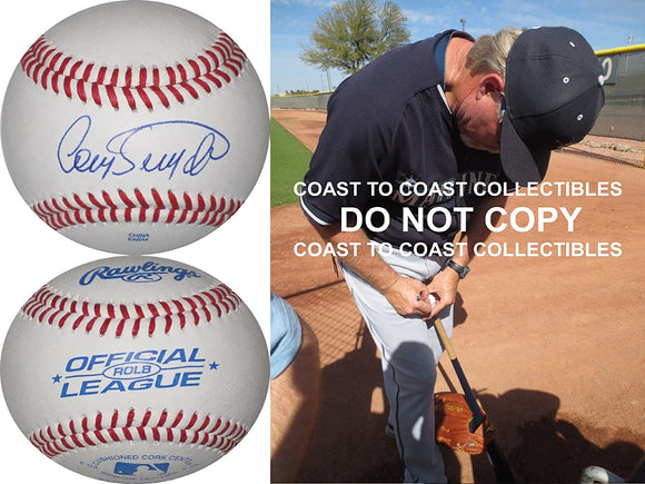 Cory Snyder Cleveland Indians Giants Dodgers signed autographed baseball proof