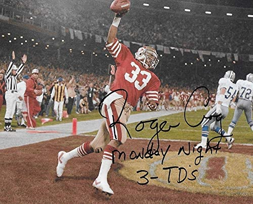Roger Craig San Francisco 49ers signed autographed football 8x10 Photo proof COA.