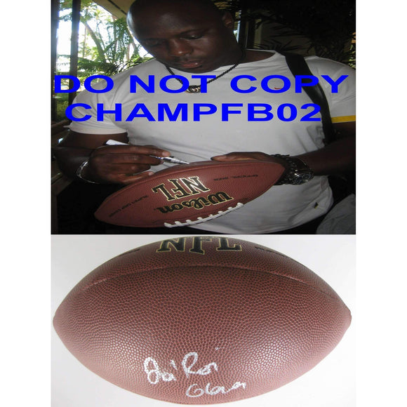 La Roi Glover, Dallas Cowboys, New Orleans Saints, Signed, Autographed, NFL Football, a COA with the Proof Photo of La ROI Signing Will Be Included
