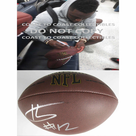 Karl Joseph, Oakland Raiders, West Virginia, Signed, Autographed, NFL Football, a COA with the Proof Photo of Karl Signing Will Be Included
